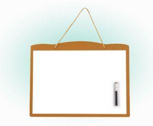 Wood Frame Dry Wipe Whiteboard