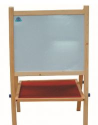 children's whiteboard with easel