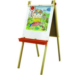 wooden easel magnetic sketchpad